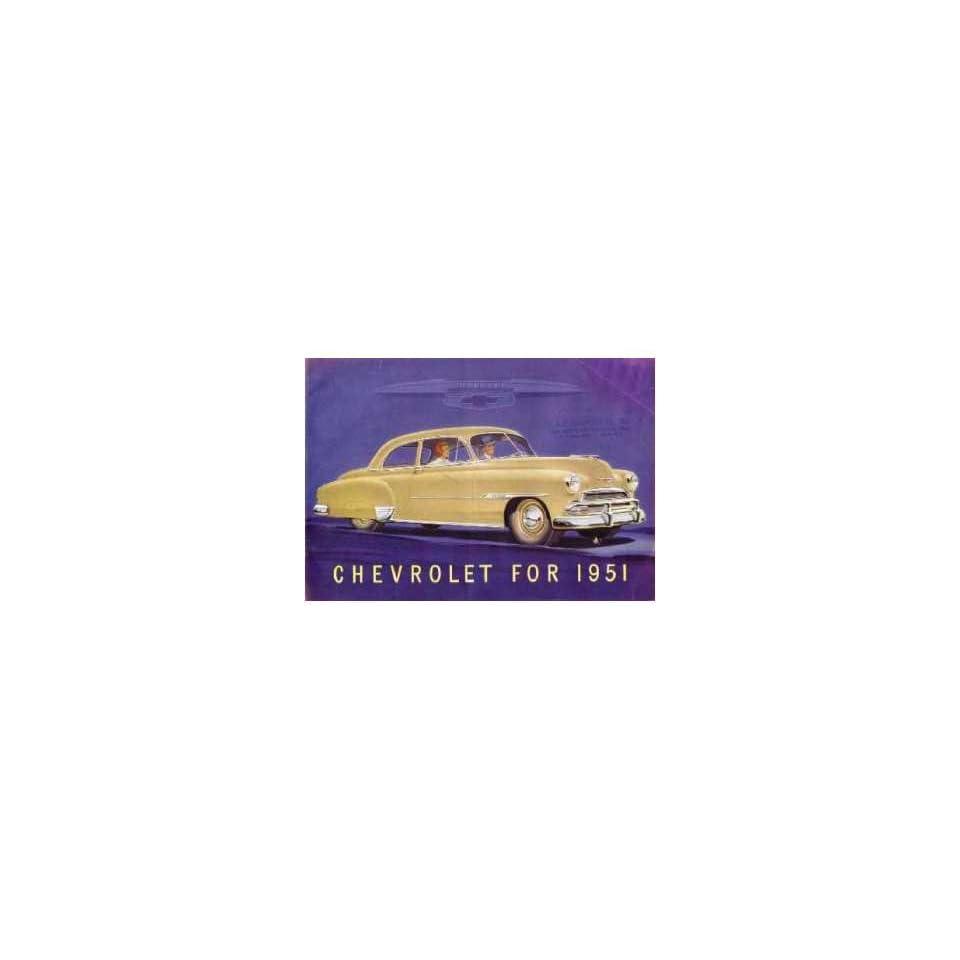 1951 Chevrolet Sales Brochure Literature Book Piece Advertisement Specs Options