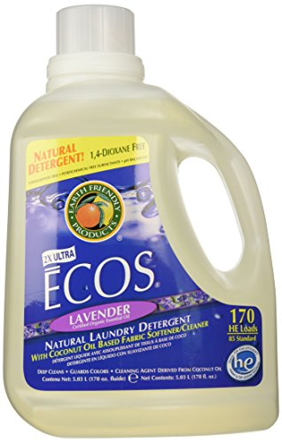 Earth Friendly Products Ecos Liquid Laundry Detergent, Lavender, 170 Ounce Front Loading Laundry Cart