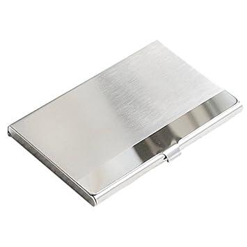Sonline Acier Inox Aluminium Etui Boite Boitier Commercial Porte Carte Visite Credit Surface Horizontal