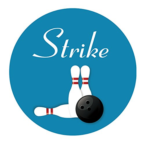 MAGJUCHE Bowling Strike Stickers, Birthday Baby Shower or