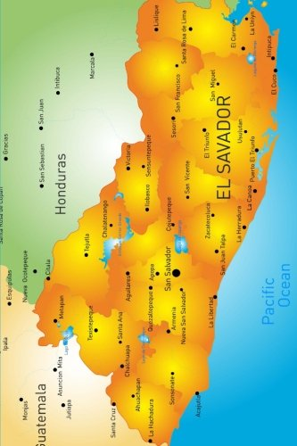 Map of El Salvador Journal: 150 page lined notebook/diary