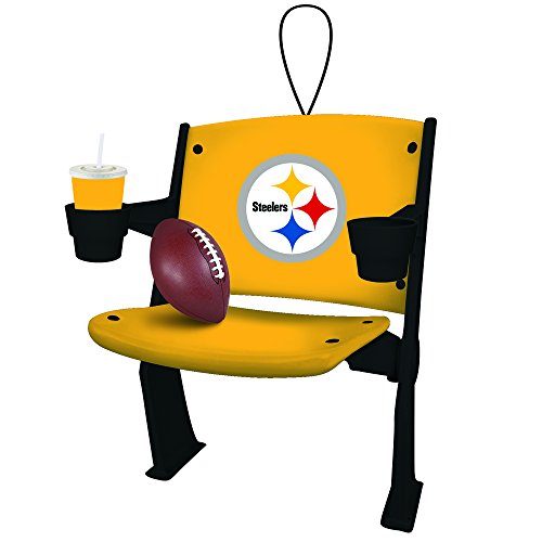 Team Sports America Pittsburgh Steelers Stadium Chair Ornament (Ornaments Pittsburgh Steelers Christmas)