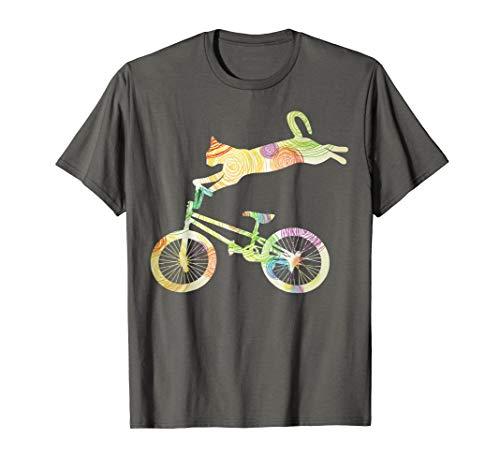 Cat Bike Cycling Bicycle T-Shirt - Your Gift ()