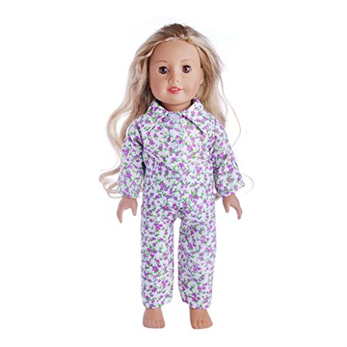 Witspace Pajamas Nightgown For 18 Inch Our Generation American Girl Doll Boy Doll Clothes (Multicolor G, For 18 Inch Dolls)