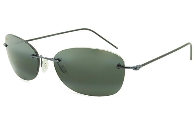 91a87d58f9 Maui Jim - Nene - Gunmetal Blue  Black Sleeve Frame-Neutral Grey Polarized  Lenses