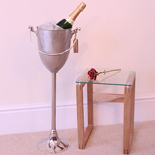 Nickel Plated Floor Standing Wine Cooler/Champagne Bucket (Cooler Plated Wine Stand Silver)