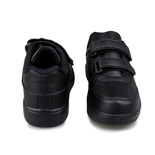 Hawkwell Kids School Uniform Sport Shoes(Toddler/Little Kid),Black PU,11 M US by Hawkwell (Image #6)