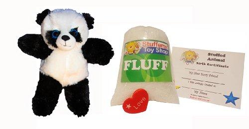 Kit Panda - Make Your Own Stuffed Animal Mini 8 Inch Fluffy Panda Bear Kit - No Sewing Required!