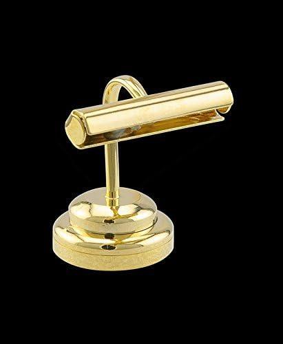Dollhouse Miniature Brass Desk Lamp//Light 1:12 Scale
