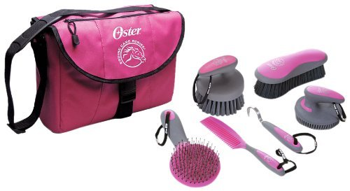 Oster Equine Care Series 7-Piece Grooming Kit, Pink by Oster