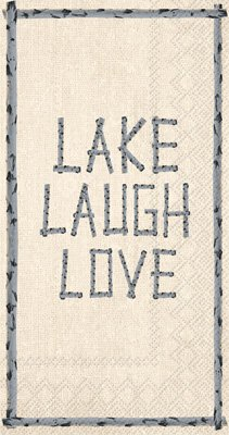 Lake Theme Napkins Set - Bundle Includes Guest Towels, Lunch Napkins, and Beverage Napkins in a Lake Laugh Love Design by TLP Party (Image #3)