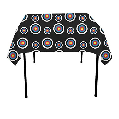 Stain Resistant Dust-Proof Square Table Cloths - Archery Target Colorado Circular Seasonal Decor, Square Or Round Tables Table Cloths for Outdoor Party Restaurant (Thanksgiving Tablecloths Target)