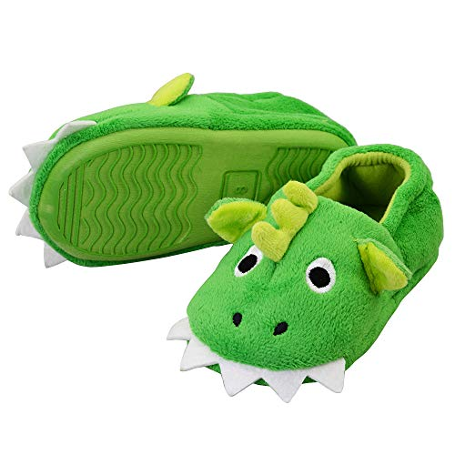 Boys Toddler Cute Monster Slippers Non-Skid Comfortable House Shoes