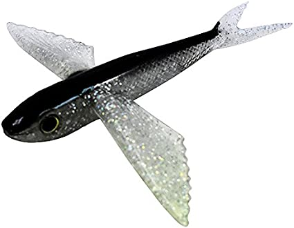 """8/"""" Blue Flying Fish Stinger Rigged Yummy Flyer Mahi Tuna Lure by MagBay Lures"""