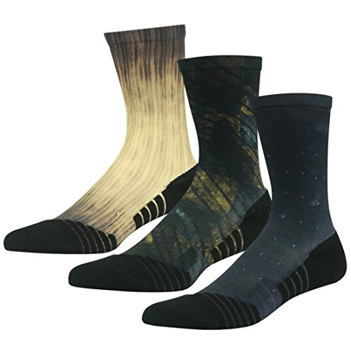 Fancy Dress Socks, HUSO Mens Womens Ultra Light Climbing Socks, Mid Calf Hiking Socks, Basketball Crew Socks Pack (Good Group Fancy Dress)