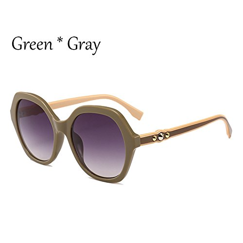 mujer Green G351 sol señoras C2 de C2 Gafas gafas tonos verde Frame Vintage extragrandes Viajes sol Sunglasses Gafas sol Marco de de TL Ia617