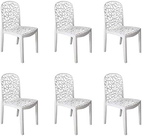 Comprar Set de 12 cojines silla jardín blanco
