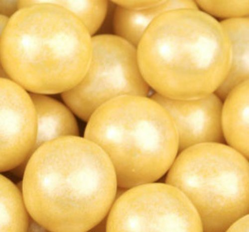 Shimmer Pearlescent Yellow 1 Inch Gumballs 1LB Bag]()