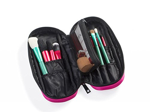 726e0749c0c5 LOUISE MAELYS Small Makeup Brush Holder Zipper Folio Cosmeti