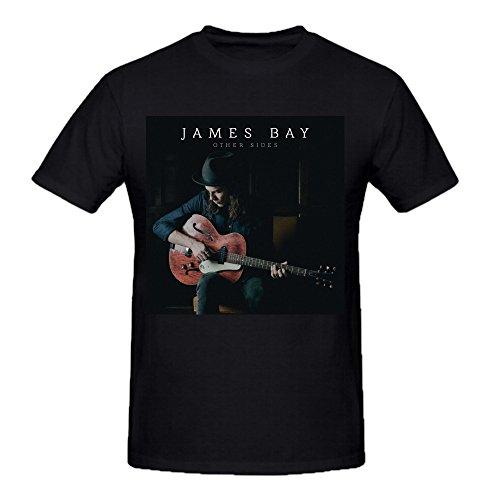 James Bay Other Sides Summer T Shirts For Men Round Neck Black