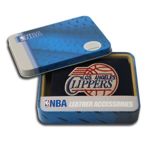 [NBA Los Angeles Clippers Embroidered Genuine Cowhide Leather Trifold Wallet] (Rico Los Angeles Clippers)