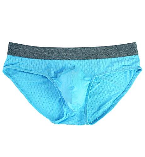 Tyhengta Men's Underwear Body Mesh Briefs 1 Pack Blue Small by Tyhengta (Image #7)