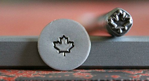 SUPPLY GUY 5mm Single Metal Punch Design Stamp: Plant, Leaf, and Flower, Made in USA (not a set) (Fancy Maple Leaf SGA-38)