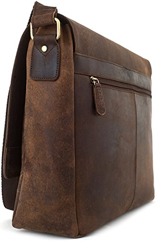 LEABAGS Oxford genuine buffalo leather messenger bag in vintage style - Muskat by LEABAGS (Image #3)