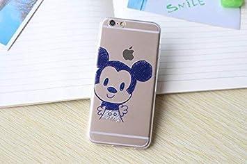 Trendy Connect Coque Flexible Dessin Animé Mickey Minnie Kiss Compatible Avec Iphone 6 6s Garçon