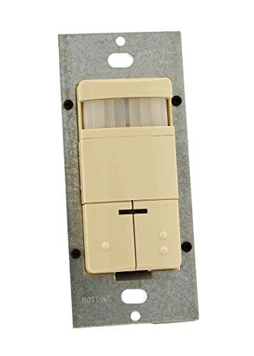 Leviton ODS10-TDI Vacancy Sensor, Decora Wall-Mount Wall Switch - Ivory