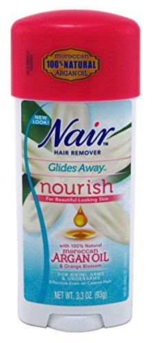 Nair Hair Remover Glides Away Nourish With Argan Oil 3.3 Ounce (97ml) (3 Pack)