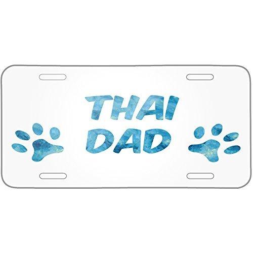 Saniwa Dog & Cat Dad Thai Metal License Plate 6X12 Inch