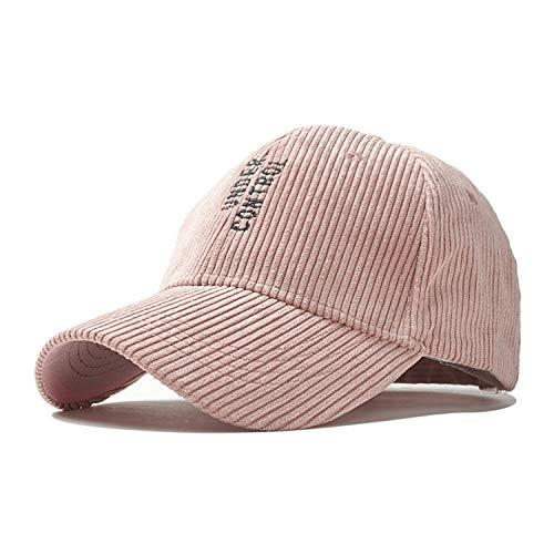 HEWPASKE Fashion Solid Corduroy Baseball Caps for Men Women Hip Hop Hats Autumn Winter Letters Embroidered Warm