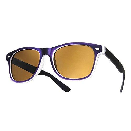 4sold morado diseño Gafas ochentero sol de TM con ahumados negro cristales Negro unisex qq1fUrW7n