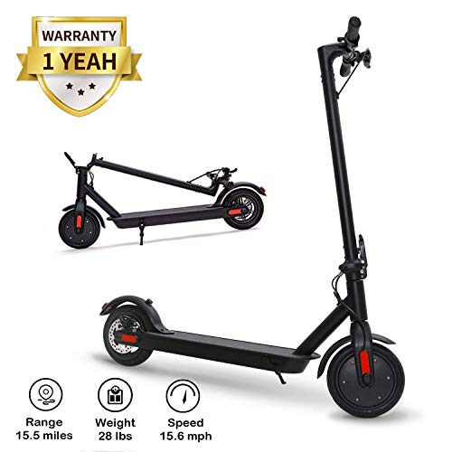 URBANMAX Electric Scooter for Adults, Speed Up to 15.6 MPH, 8.5″ Explosion-Proof Solid Tires, Two Speeds Adult Electric Scooter for Commute with Double Braking System