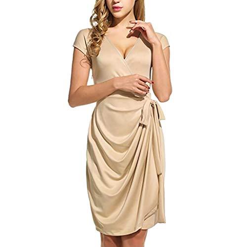 (Keliay Bargain Women Short Sleeve Solid Dress Ladies Casual Dress)