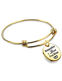 Mom Bracelet Mothers Day Gifts Remember I Love You Mom Bangle Stainless Steel 2 Colors