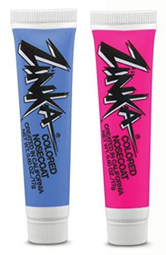 Zinka Colored Sunblock Zinc Nosecoat 2 Pack Bundle - Blue Pink