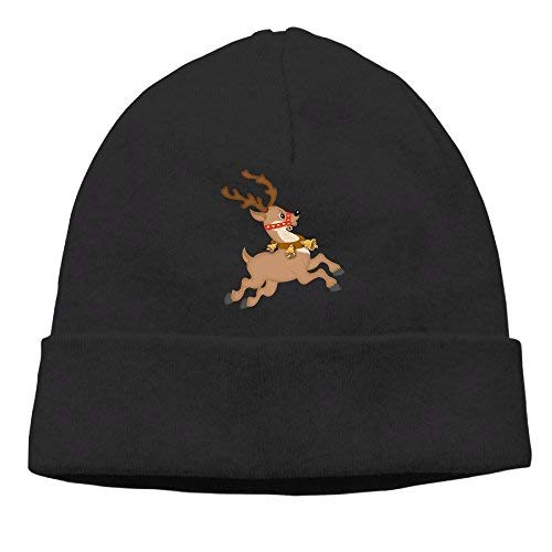 boy Unisex Running Elk Classic Fashion Daily Beanie Hat Skull Cap Go Ahead