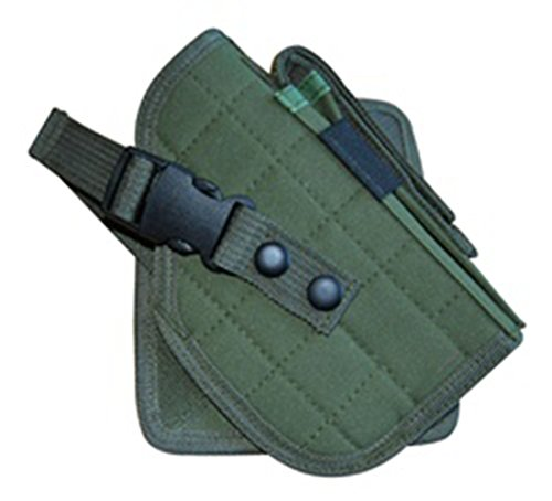 Ultimate Arms Gear OD Green MOLLE Cross Draw Holster, Right Handed, Fits 1911 (Loop Cross Draw Holster)