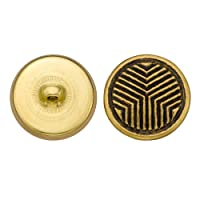 C&C Metal Products 5276 Modern Metal Button, Size 36 Ligne, Antique Gold, 36-Pack