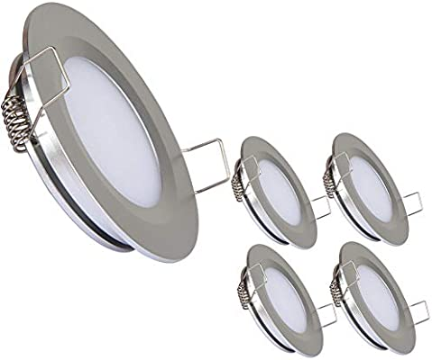 4 White 12 volt LED recessed lights Perfect for RV Trailer and Motor Home.