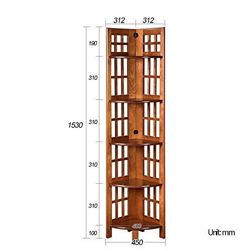 Amazon Com Bookshelf Ynn 5 Tier Bookcase Solid Wood