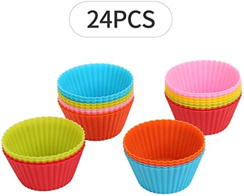 Reusable silicone cupcake non stick rainbow product image
