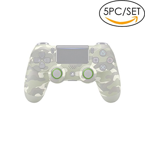 5x Analog Stick Joystick Controller Performance Thumb Grips for PS4, PS3, Xbox ONE, Xbox ONE S, Xbox 360, Wii U (Clear/Green)