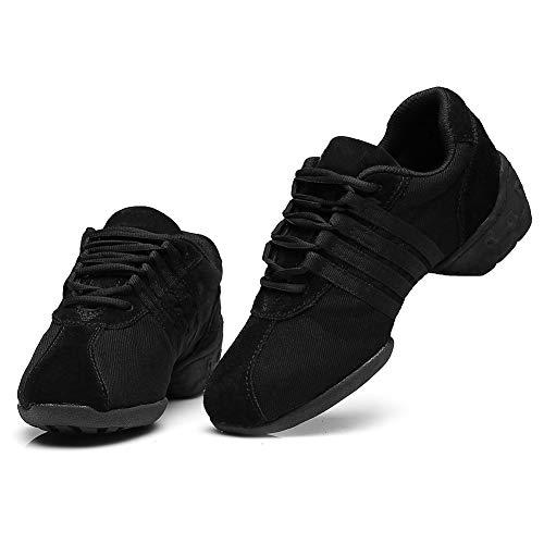 Negro Zapatos De Mujer T01 Baile Deportivos Moderno Jazz Sneakers Zapatillas Hroyl Modelo Dance wHpZq4Z