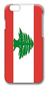 ACESR Best iPhone 6 Cases, Lebanon Flag PC Hard Case Cover for Apple iPhone 6 (4.7 INCH) - 3D Design iPhone 6 Case