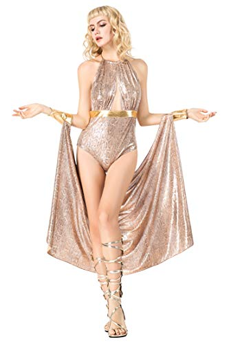 Honeystore Athena Greek Goddess Costume Cleopatra Costume Egyptian Queen Costume 8858