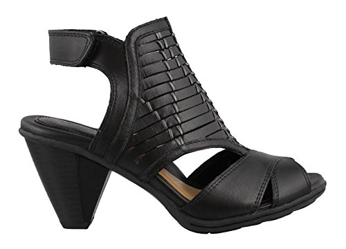 Earth Women's Libra Sandal,Black Soft Leather,US 6 M
