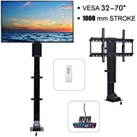 "Pinty Motorized TV Mount Lift with Remote Control for Large Screen 32"" ~ 70"", Height Adjustable up to 71.6, Weight Capacity 154 lb. Fast Lift Speed 1 per Second"